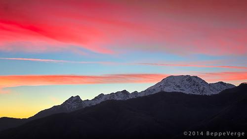 sunset alps tramonto alpi valsesia borgosesia redclouds montebarone nuvolerosse beppeverge