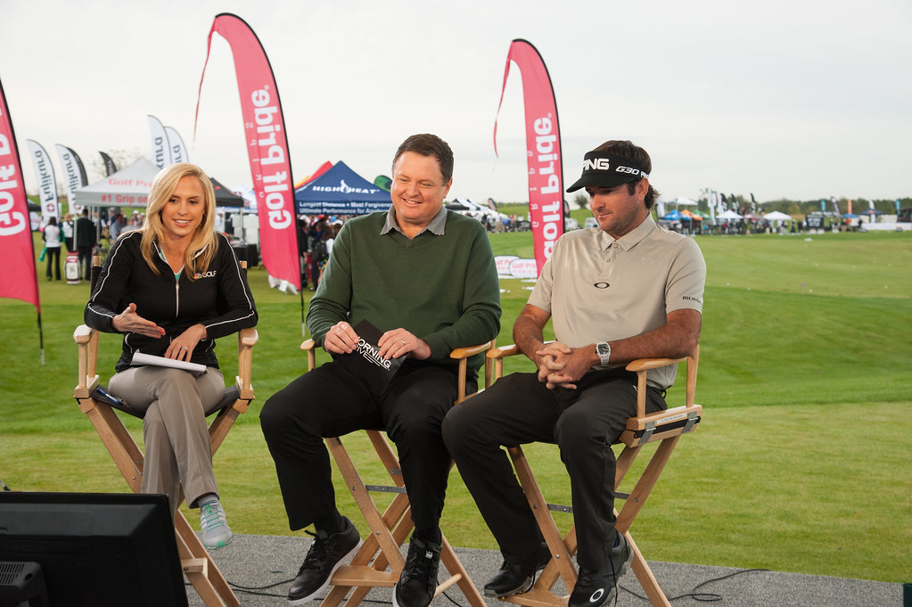 Lauren Thompson, Charlie Rymer, and Bubba Watson during an