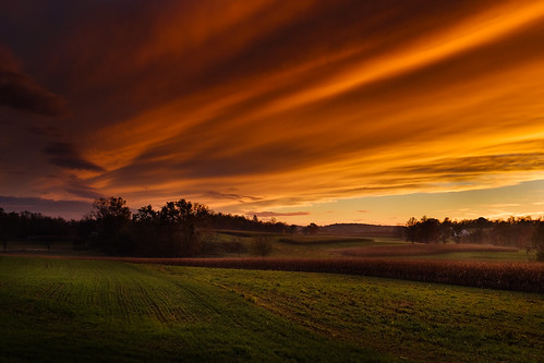sunset landscape pennsylvania farmland lancaster lancastercounty quarryville
