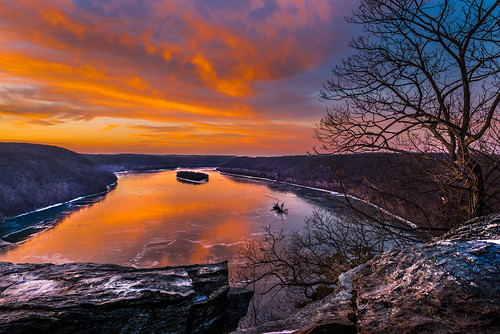 winter sunset river landscape pennsylvania lancastercounty pinnacle susquehanna susquehannariver holtwood
