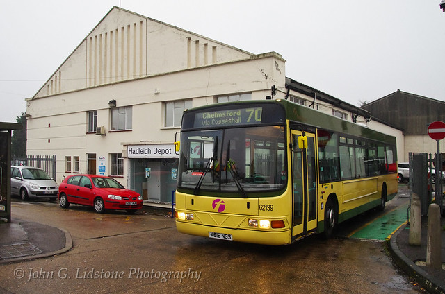 Rare sight of First Braintree Volvo B10BLE / Wright Renown 62139 , X618 NSS very smart after visiting Hadleigh Depot for MoT work, in Aberdeen Corporation Transport 1960s AEC Swift livery - with grateful thanks to First Hadleigh Engineering.