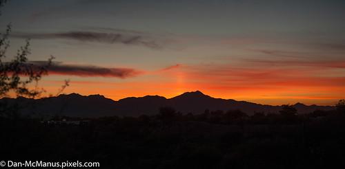 sunset arizona panorama tucson