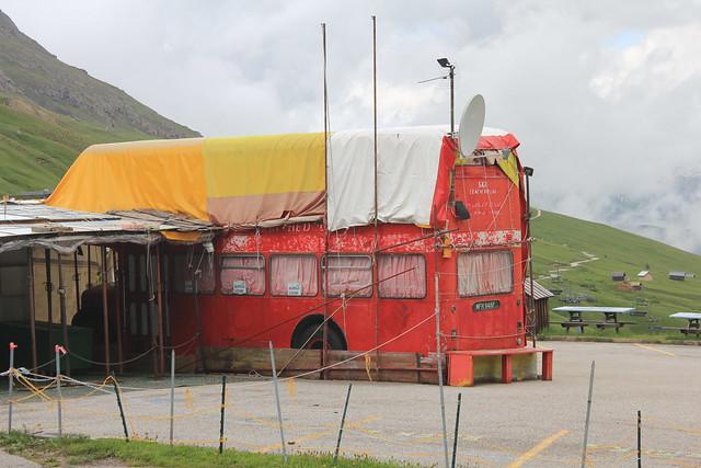 Former East Kent bus (MFN948F) at Passo Pordoi
