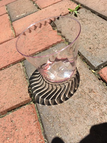 light shadows bricks distortions plasticglass