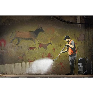 Reload from the archive. A favourite from #Banksy shot in #london painted for the #CansFestival on #leakestreet. #wallkandy #art #streetart #graffiti #mural #fb #f #t #p
