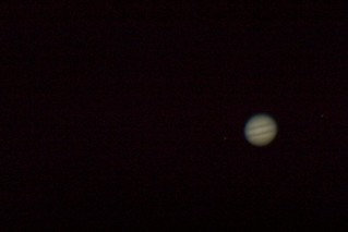 Jupiter with 2 moons (just)   by Trippleknz