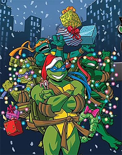 """TEENAGE MUTANT NINJA TURTLES :: COWABUNGA CHRISTMAS!"""" // DVD menu screen; TURTLES isolated (( 2015 )) by tOkKa"""