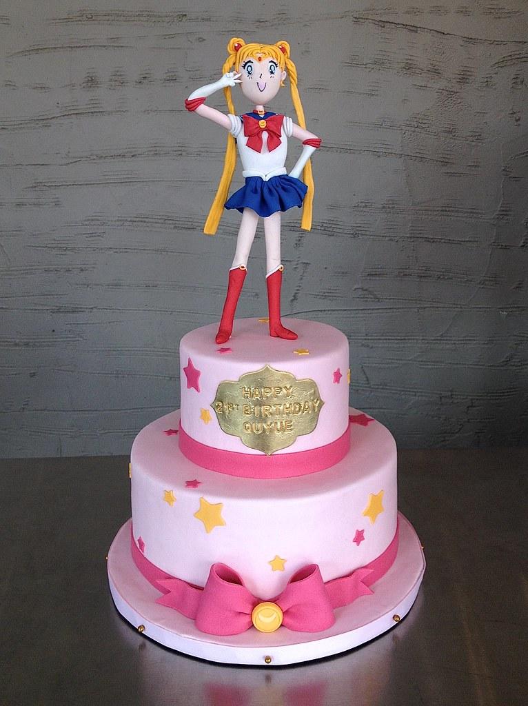 Amazing Sailor Moon Birthday Cake Sasa Flickr Personalised Birthday Cards Beptaeletsinfo