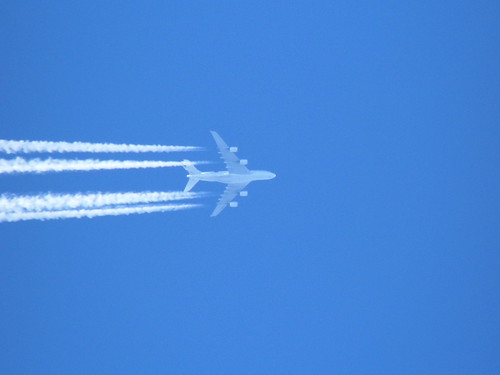 Air France A380-861 F-HPJE over Peterborough at 0943 with a flight from Paris to Los Angeles. 25.10.14 | by JP4488