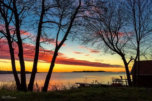 november sky colors silhouette norway sunrise landscape tønsberg vallø vestfold tonsberg curtski22 kurtevensen kurtevensenphotography