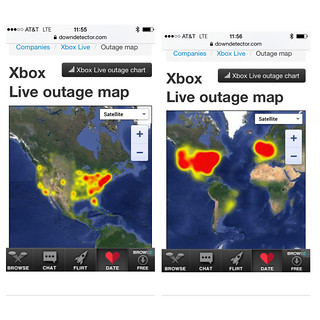 Well, it's not just us! #xbox #xboxlive outage #map | Flickr