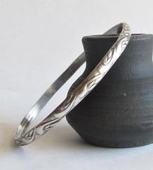 Patterned Bangle Bracelet