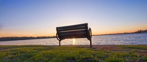 sunset panorama water alexandria minnesota bench lakeagnes