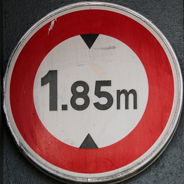 1.85m height restriction