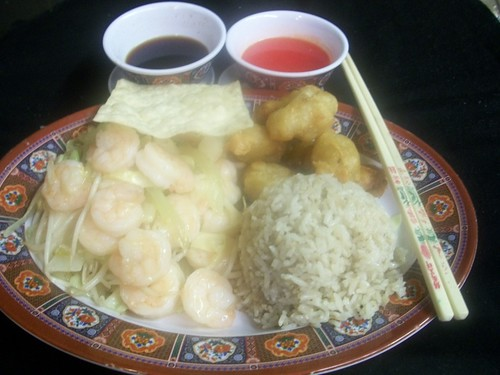 C1 Shrimp Chow Mein and Sweet & Sour Pork | by Golden Gate Chinese Restaurant
