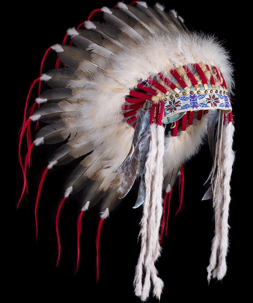 09ae103d4 ... 2121.15.01 Native American style feather headdress «Santee Sioux  Warrior» (side view