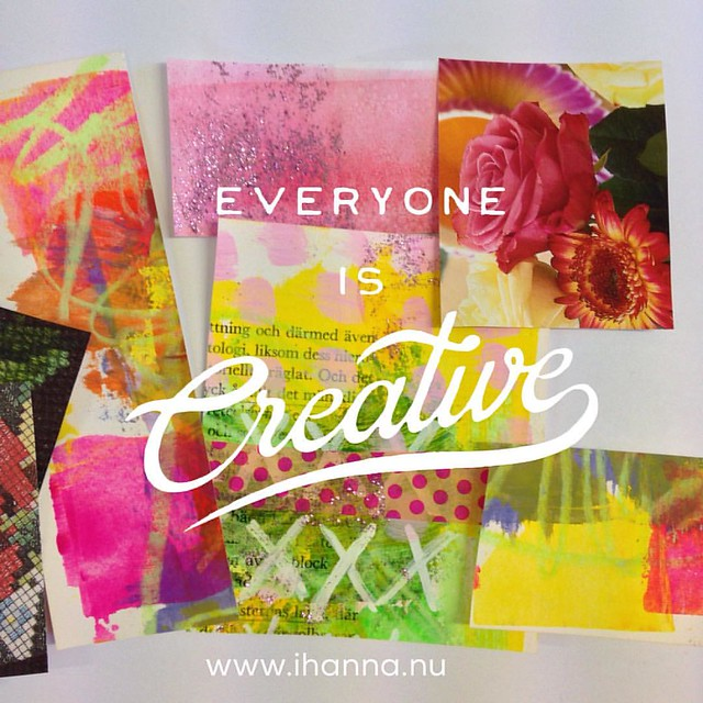 Every Single One is Creative according to iHanna at www.ihanna.nu