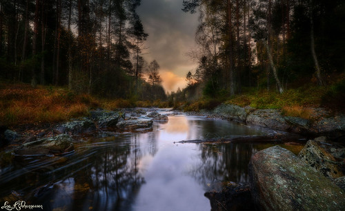 autumn sunset water norway river norge nikon norwegen halden d7100 kverntjern