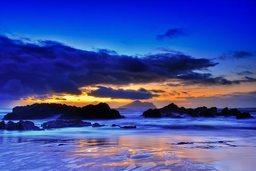 beach clouds sunrise taiwan ilan 台灣 宜蘭 toucheng 日出 倒影 頭城 外澳