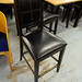 Tall black dining chair