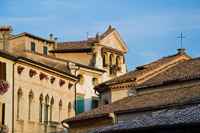 Roofs and balconies in Asolo