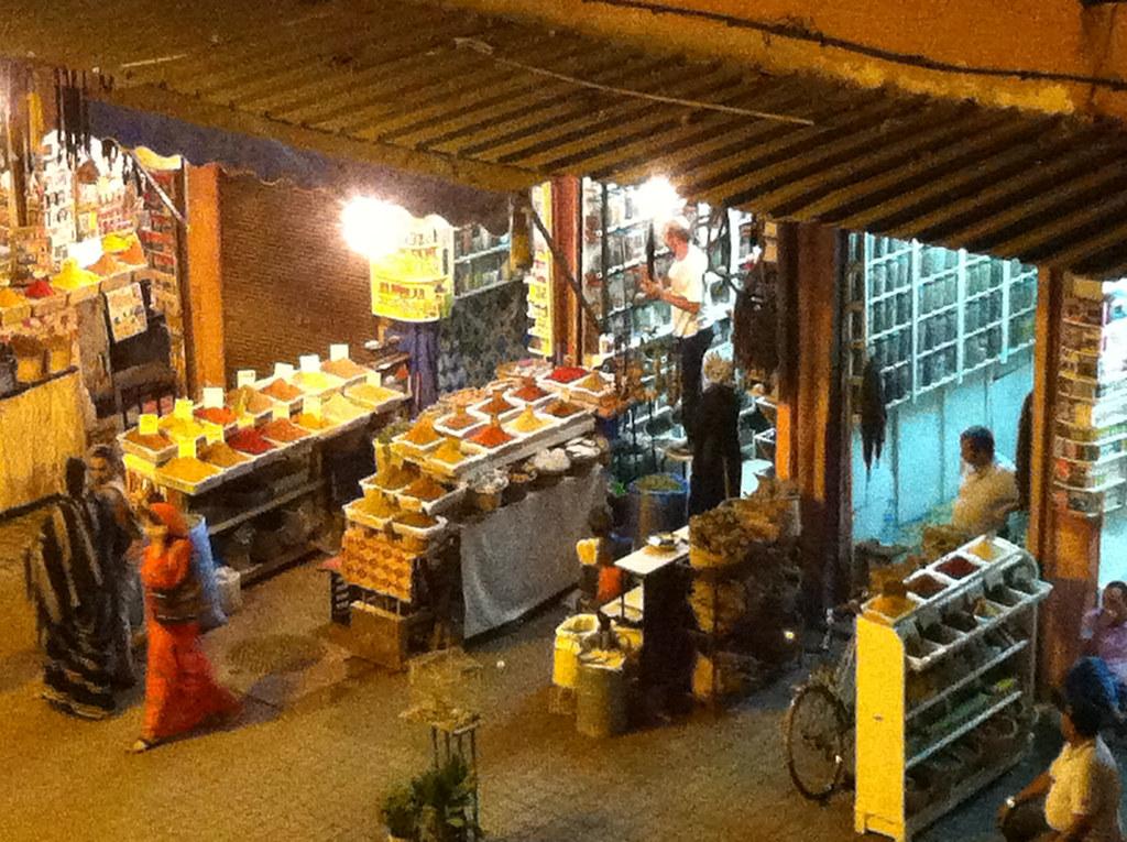 Marrakech Place Des Epices De La Terrasse Du Café Des Ep