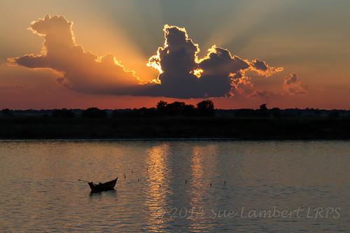 sunset sunlight silhouette sundown canoe ayeyarwady myanmarburma henzada republicoftheunionofmyanmar