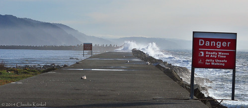 california sea sign bay waves pacific crescentcity northjetty dolos