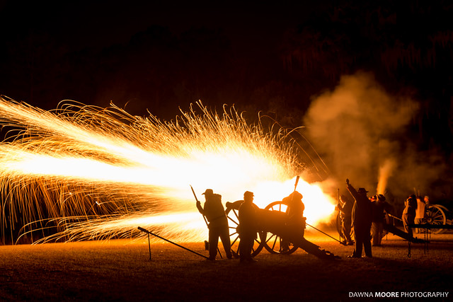 Cannon Fire at Hofwyl-Broadfield Plantation, Brunswick, Georgia