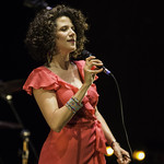 The Cyrille Aimée Quintet at REDCAT, Thursday, October 16, 2014. Photos reproduced by Bob Barry's kind permission.