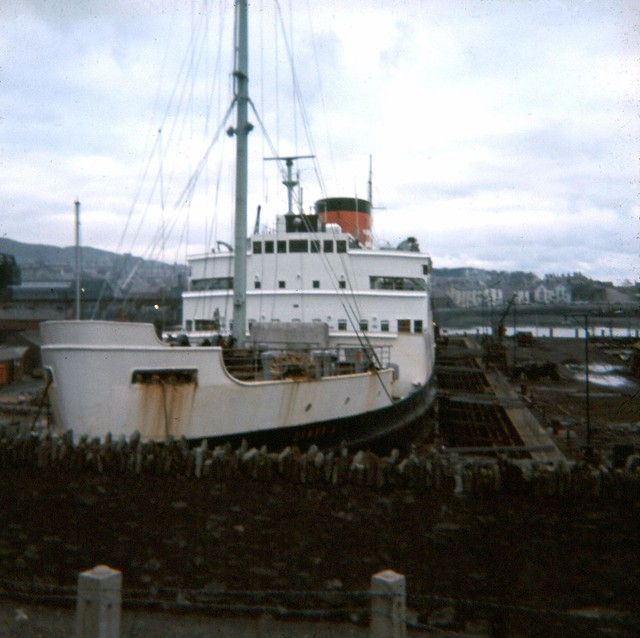 Cambria in dry dock at Holyhead