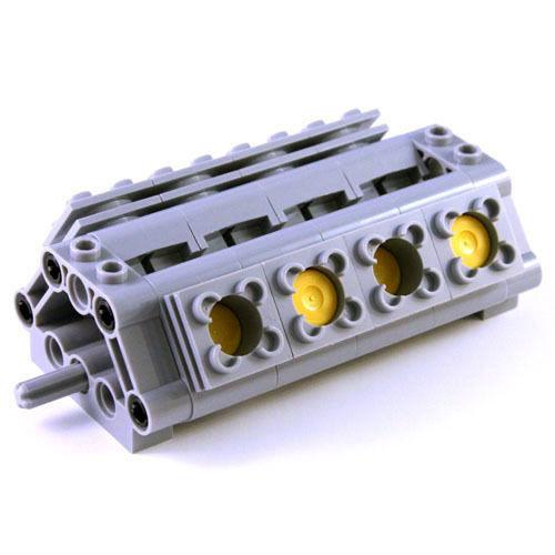 V8 Engine Piston Round Cylinder Head Crankshaft Block Car C Lego Technic