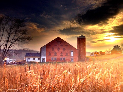 sunset sky church andy field barn corn christ pennsylvania donkey andrew pa mormon greencastle brickwork aga hdri settlement iphone shellyfarm newjerusalem tonemapped aliferis truehdr sidneyrigdon iphoneography bickertonite rigdonite