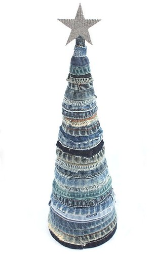 denim jeans christmas tree | by kobunecraft