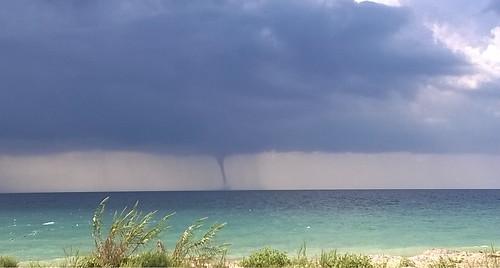 sea sky beach water weather clouds strand wolken zee lucht tornado weer