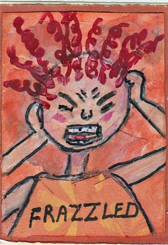 ATC -- Frazzled Cartoon Lady