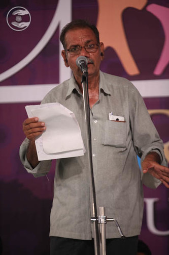 Devotee expresses his views in the form of Poem