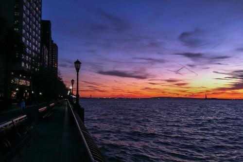 Along the Battery Park Esplanade