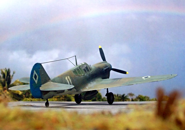 1:72 Curtiss P-40E 'Kittyhawk' Mk. I; aircraft '11' of the 6th Pursuit Squadron, Philippine Army Air Corps (PAAC); Zablan Airfield/Manila, early 1942 (Whif/Hobby Boss kit conversion)