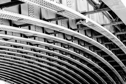 Arcing Lines Black and White Blackfriars Bridge Underside | by MikeDixson