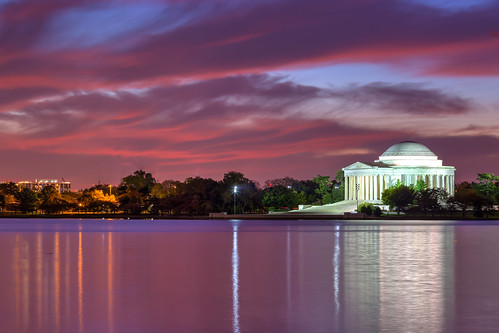 fall water clouds sunrise landscape dc background tidalbasin