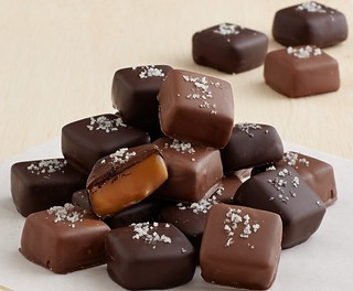 Handmade Chocolate covered Gray Sea Salted Caramels | by Berries.com