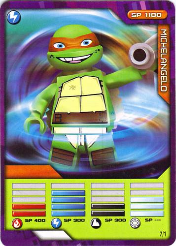 "Sheng Yuan TEENAGE MUTANT NINJA TURTLES :: ""SHREDDER"" Bootleg Minifigure Set / ..game card 7/1 ""MICHELANGELO"" (( 2014 )) | by tOkKa"