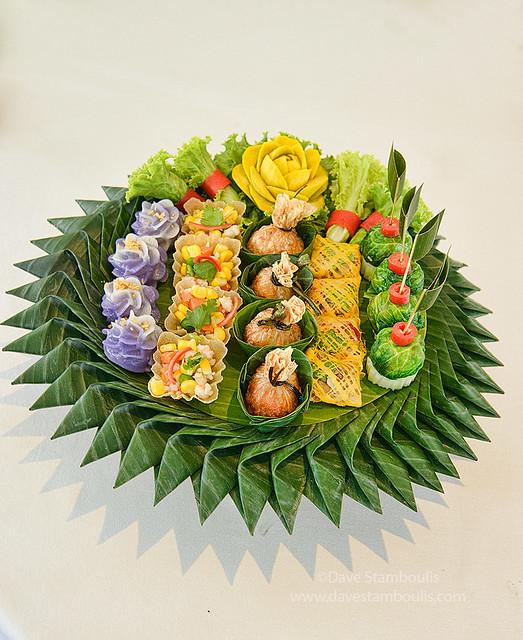 traditional Royal Palace Thai cuisine, cho muang dumplings, Bangkok, Thailand