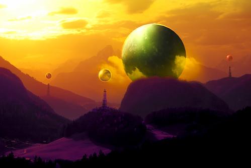 Cosmic Sunset | by Hldrmn