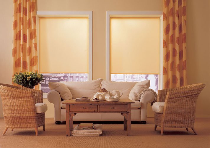 image of indoor roller blinds that block out the sun