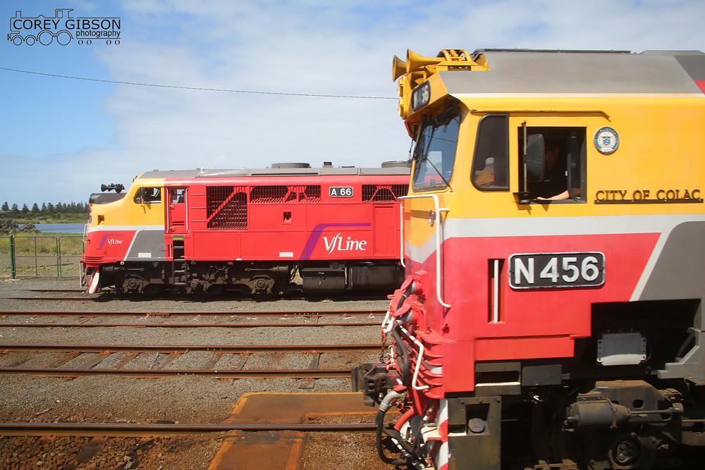 Vline Locomotives A66 & N456 by Corey Gibson