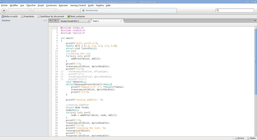 monodevelop linux c++