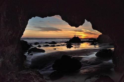 winter sunset sky water nikon cave californiacoast matadorbeach