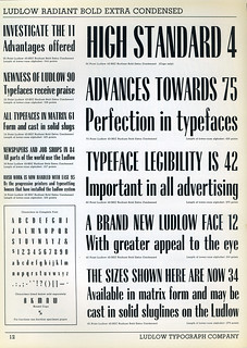Ludlow Radiant Bold Extra Condensed Type Specimen | by Dunwich Type